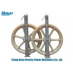 China 400X80mm Nylon Single Conductor Pulley Rated Load 20kN High Working Efficiency for sale