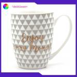 China Commercial Monogram Custom Ceramic Coffee Mugs 8.5cm*10cm Size for sale
