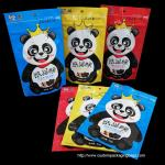 NOQ200pcs hot sale nice quality customized logo snack stand up colorful tea bag for sale