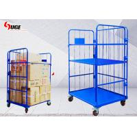 Foldable Work Cargo Transport Metal Cage Trolley 1100*800*1700MM