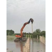 China 32Mpa Concrete Pile Driving Equipment , Excavator Mounted Sheet Pile Driver factory