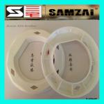 58KHZ Milk Can Security Hard Tag Am Security Tag White 132*15mm for sale