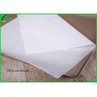 30g - 40g Greaseproof White Color Food Grade Paper Roll For Wrapping Food for sale