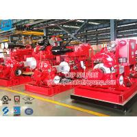 China Horizontal Single Stage Double Suction Diesel Engine Fire Pump Set With UL Listed NFPA 20 Standard for sale
