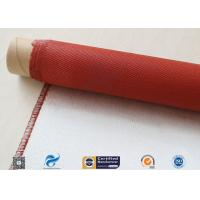 Single Sided Red Silicone Coating Fiberglass Cloth 50 Meters High Strength 100g for sale