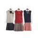China Plus Size Girls Uniform Sweater Vest , School Uniform Skirts For Juniors for sale