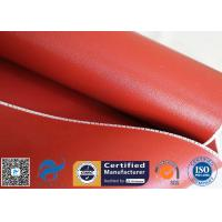 China 1mm High Temperature Bright Red silicone coated glass fabric 3784 850g/m2 for sale