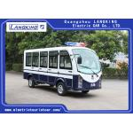 China White 11 Seater Electric Shuttle Car Equipped With Effective Shock Absorb / Door for sale