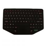 Fixable Rugged Backlighted Vehicle Keyboard Plastic Material With Touchpad for sale