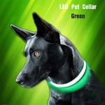 China Luxury Nylon LED Dog Collar Printed Training Vest Flashing Usb Rechargeable for sale