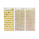 China Adhesive Kids Sticker Printing Smily Face Emoji Or Letter Symbols Patten for sale