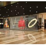 P3.91-7.8 Transparent Led Wall Window Showcase Slim Light Cabinet Unit Size 1000*500mm Weigh 10kg Sqm for sale