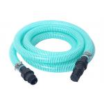 China Flexible PVC Spiral Suction Hose Assembly / Vacuum Pump Pipe With Fittings for sale