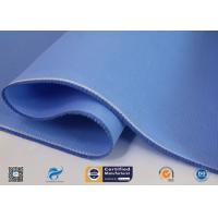 China Double Sides Blue Silicone Coated Fiberglass Cloth Temperature 260℃ supplier