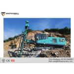China Crawler Mounted Blast Hole Drill Rig With Automatic Rod Handler for sale