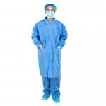 Disposable dustproof clothing experimental suit SMS non woven protective waterproof and breathable Knitted cuffs