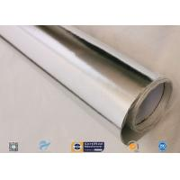 Aluminium Foil Laminated Silver Coated Fabric Flame Retardant 4HS Heat Reflective for sale