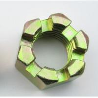 Mild Steel Slotted Heavy Hex Nuts Hex Castle Nut Zinc Plate Surface High Performance for sale