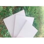 High Strength White Rigid PVC Foam Board Corrosion Resistance For Exhibits Booths for sale