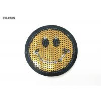 Commercial Emoji Sequin Embroidery Patches Used In Jacket And Bags for sale