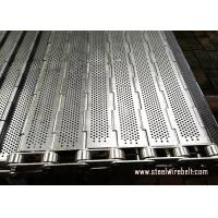 Precise Plate Chain Link Conveyor Belt Durable Knuckled Selvedge Metal Chain Plate for sale