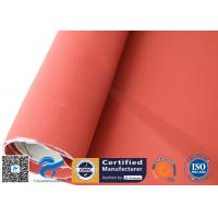 China 580gsm 17oz 3732 Red Silicone Coated Fiberglass Fabric Pipe Heat Insulation for sale