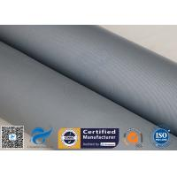 China 31OZ 0.85MM Grey Silicone Coated Fiberglass Fabric High Strength Fire Blanket for sale