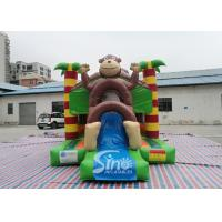 Outdoor kids commercial jungle monkey inflatable combo in monkey theme park for jumping from Sino factory for sale