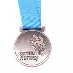 Logo Custom Metal Medals 60mm Antique Gold Silver Medal With Ribbons for sale