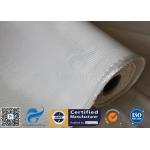 High Silica Fabric 36OZ White 1.3MM 1200℃ High Temperature Furnace Door Lining for sale