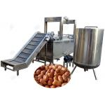 China Industrial Automatic Fryer Machine For Peanut Fried Peas , Dehydration Deoiler 200 Kg / H for sale