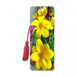 Flower Design Souvenir 3D Lenticular Bookmark / 3D Lenticular Printing for sale
