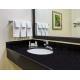 China Black Galaxy Kitchen Granite Slab Countertops Cost Gold Copper Colored Specks for sale