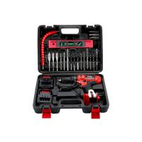 China Fast Charger Cordless Drill Tool Set 25 Piece Accessory Kit 18 Gears Red Color for sale