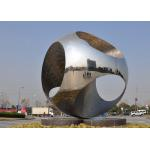 Large Size Outdoor Sphere Sculpture Stainless Steel For Public Roundabout for sale