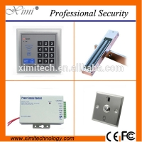 China F004 access controller with exit button power supply and electric lock without software single access control sets for sale