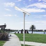 Commercial Exterior WiFi Integrated Solar Street Light Aluminium Alloy for sale