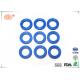 All Type Of Rubber Washer With FDA Approved Black Blue Soft Silicone for sale