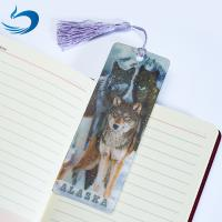 Lenticular Printing Services Cartoon 3D Hologram Bookmark For Kids for sale