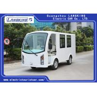 China Low Speed 48V 5KW Electric ambulance car /Mini Electric Sightseeing Car / 4+1 bed Seats Electric Shuttle Bus for sale