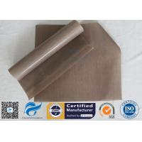0.12Mm FDA Non Stick Silicone Baking Mat Beige PTFE BBQ Oven Liner for sale