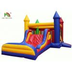 Waterproof Inflatable Bouncy Castle With Slide For Commercial 1 Year Warranty for sale