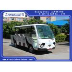 China 14 Seater Electric Shuttle Car Equipped With Effective Shock Absorb With Door for sale