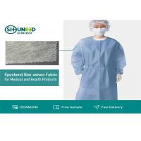 China Non Toxic Medical Breathable Non Woven Fabric Disposable Surgical Gown Fabrics for sale