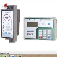 35mm Din Rail Keypad Prepaid Electric Meter With RF Communication Remotely Monitoring  for minigrid offgrid rural