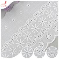 Durable Embroidered Ribbon Trim For Wedding Curtain / White Tulle Trim for sale