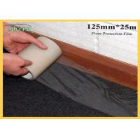 China 125mm Width Floor Protection Film Anti Dirt Against Wall Painting for sale