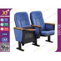 China Guest Church Hall Chairs With Arm U Legged / Fabric Covered Chair for sale