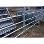 China Livestock galvanized cattle panels 2*2.1m portable gate panels silver color for sale