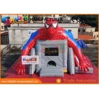Superhero Combo Spider - Man Inflatable Bouncer Slide / Blow Up Bounce House For Children for sale